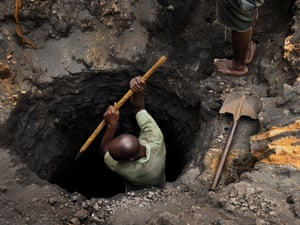 The scavengers have only hand tools to dig their tunnels and suffer immediate health problems, as well on the long term harm of lead poisoning. 'Our daily experience is chest pains, due to the dust,' said Musonda.