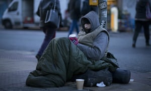 A homeless person in Manchester