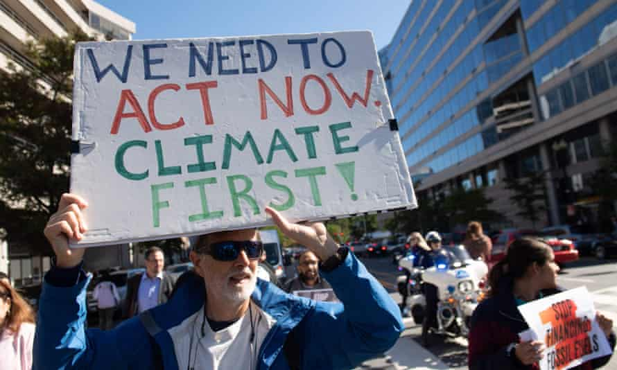 Environmental groups and leaders have said the US goal must be no lower than a 50% cut in greenhouse gas emissions by 2030.