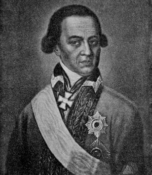 Pushkin's great-grandfather Abram Petrovich Gannibal.