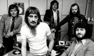Ed Stewart, third right, with his fellow DJs, from left; Tony Blackburn, Stuart Henry, John Peel and Dave Lee Travis in 1973.