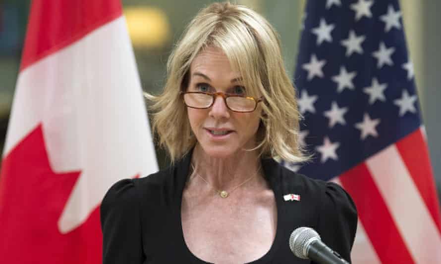 Kelly Knight Craft speaks in Ottawa, Canada on 23 October 2017.