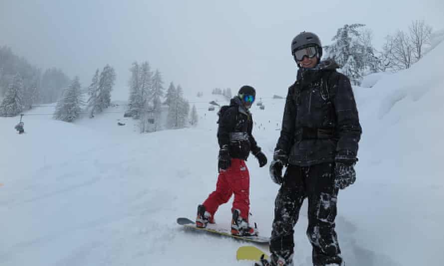 Rupert Mellor on the slopes