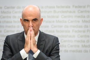 The Swiss interior and health minister, Alain Berset, pictured earlier this month.