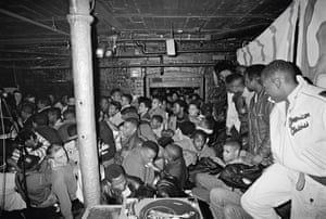 Ultramagnetic MC'S shot at Dingwalls in Camden, London, on their sole visit to Britain in 1989. The gig was completely sold out and photographer Normski captured the moment when the crowd bum-rushed the back door and steamed in. The show went on with the door open.