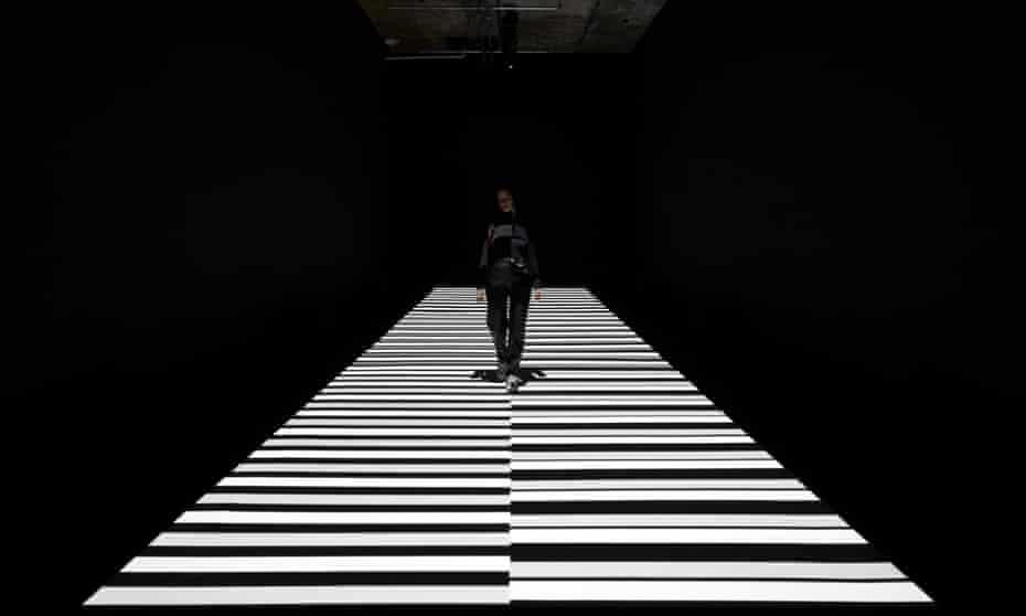 Path of light … Ryoji Ikeda's barcode-like installation test pattern.
