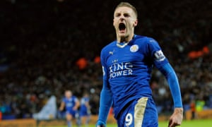 Jamie Vardy scored 24 Premier League goals during the 2015-16 season for the champions Leicester City.