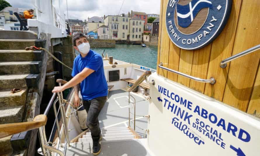 Fal River Ferries preparing to reopen its ferry crossings between Falmouth and St Mawes, 2 July 2020