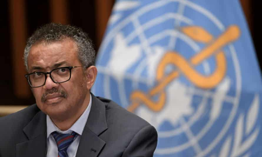 World Health Organisation director-general Tedros Adhanom Ghebreyesus