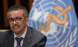 World Health Organization (WHO) Director-General Tedros Adhanom Ghebreyesus at a news conference last year.