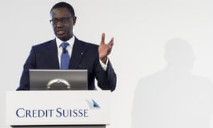 Tidjane Thiam, CEO of Swiss bank Credit Suisse
