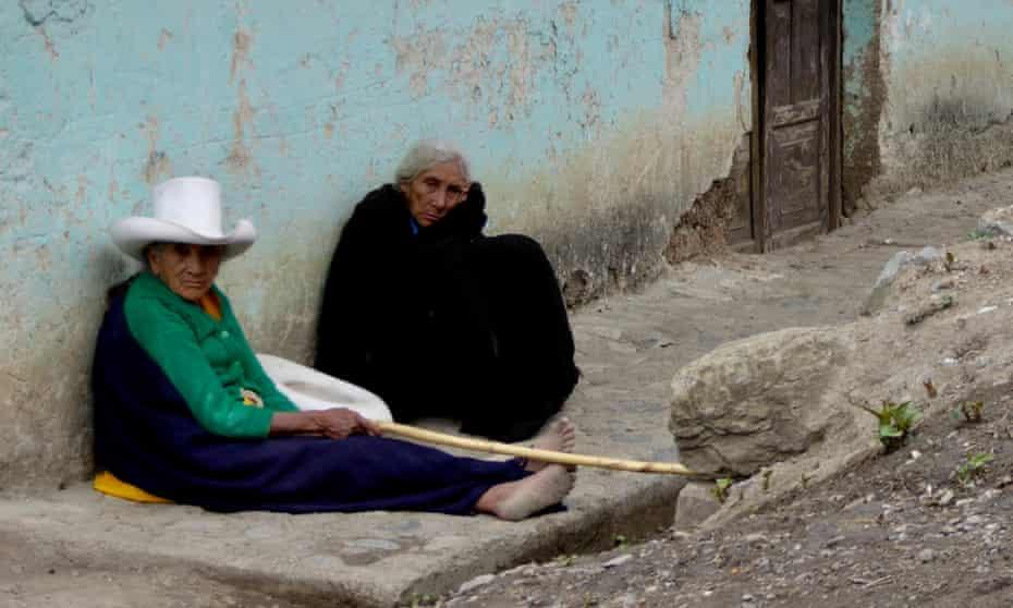 People in Choropampa, in Peru's northern Cajamarca region