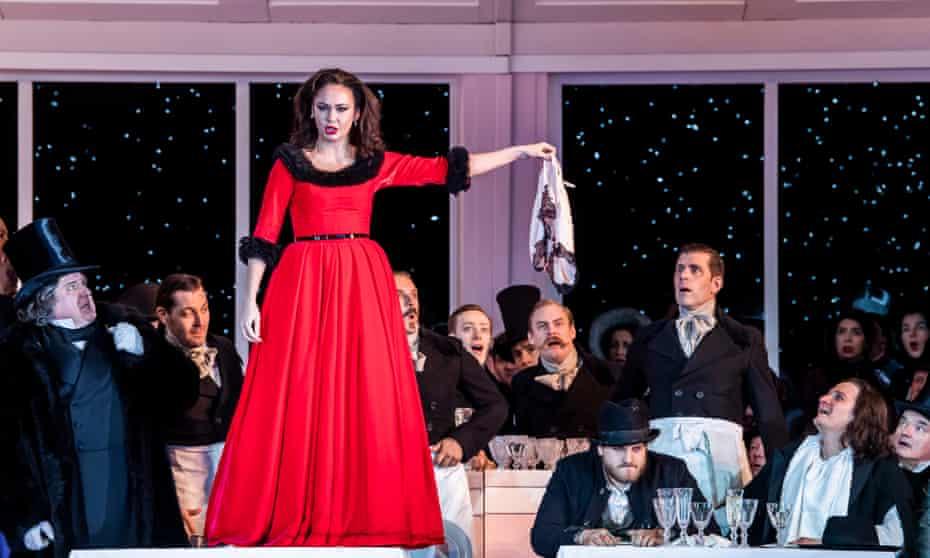 Aida Garifullina as Musetta in La Bohème.
