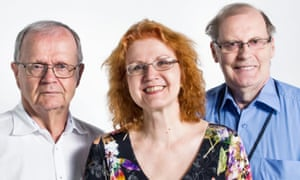 Nuntii Latini hosts Tuomo Pekkanen, Virpi Seppälä-Pekkanen and Reijo Pitkäranta