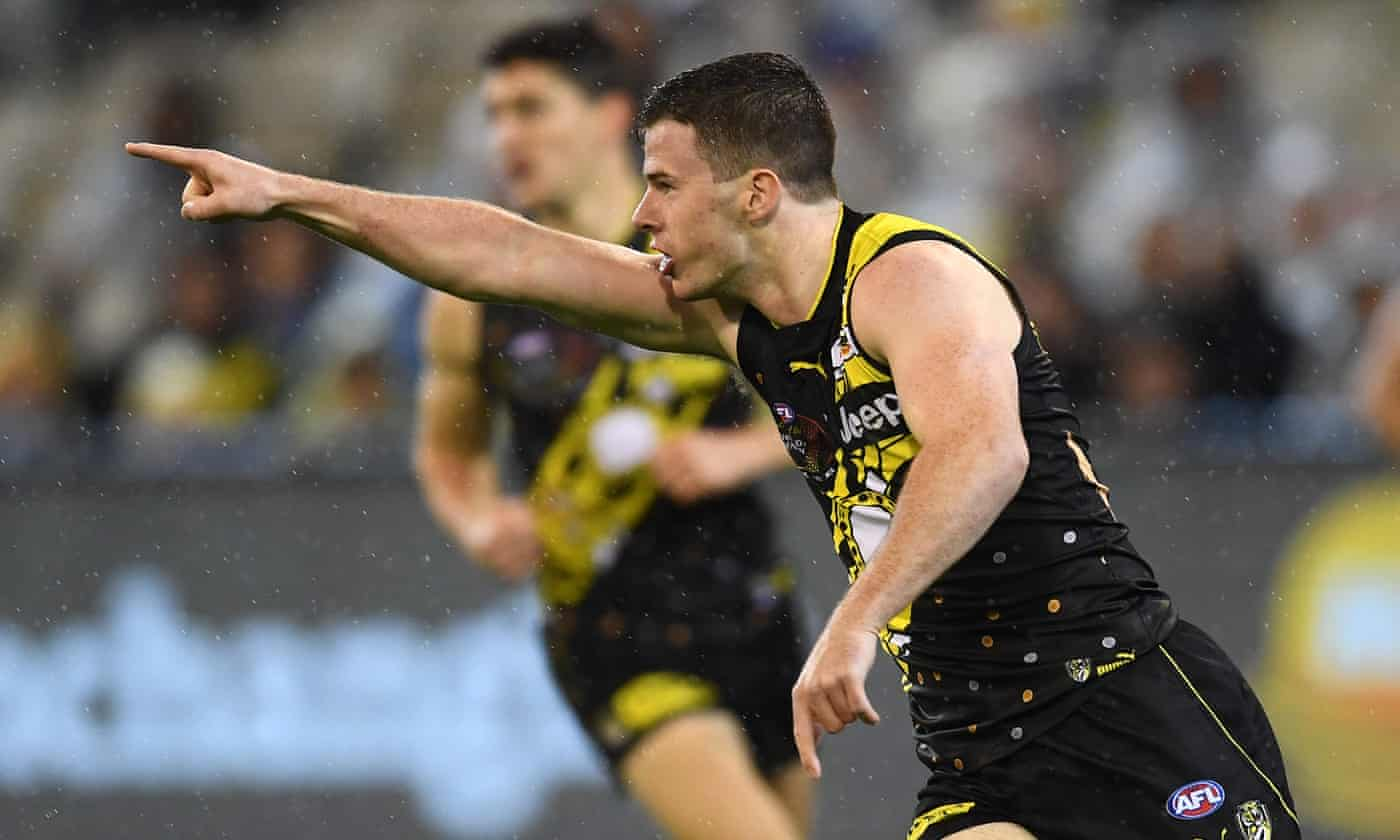 Young Richmond player Jack Higgins in hospital with brain bleed