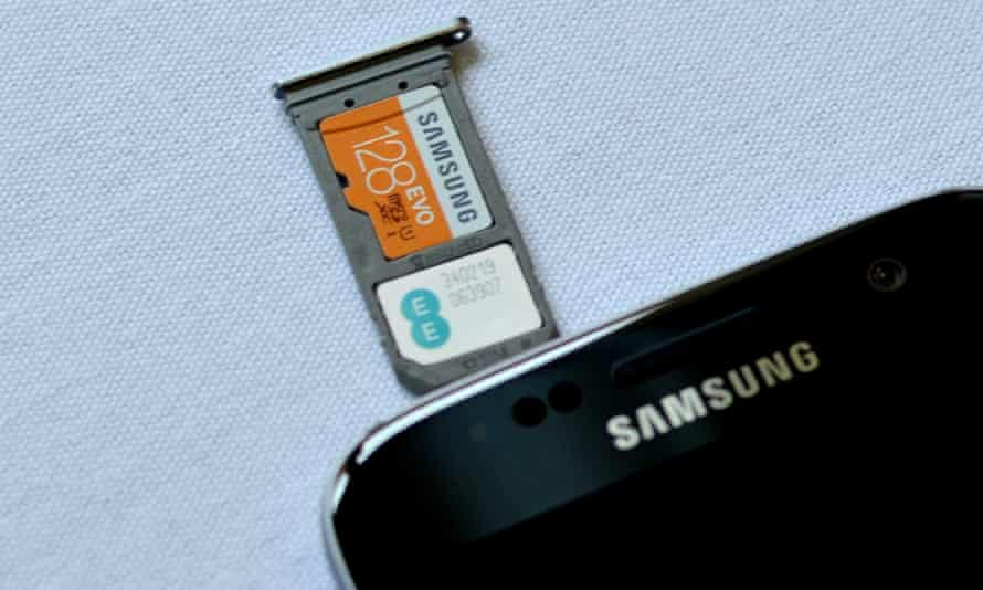 MicroSD cards are small and are handy for backing up data on the move.