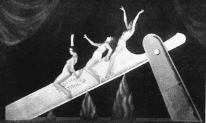 Death ride … Slide on the Razor, a performance by the Haller Revue in Berlin, 1923