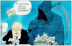 Boris Johnson in the shadow of coronavirus – cartoon | Opinion ...