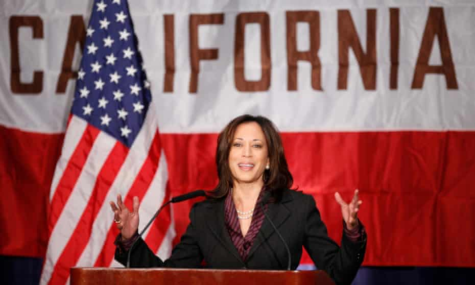 Kamala Harris as California attorney general in 2010.