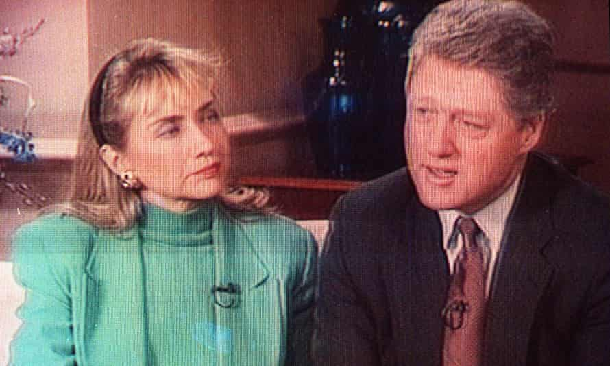 Bill and Hillary Clinton 60 Minutes TV interview, 1992.