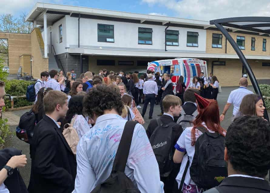 Ralph Thoresby school's year 11 event had an ice-cream van and barbecue following a leavers' assembly