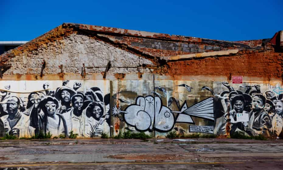Street art in Woodstock, Cape Town, South Africa.