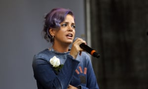 Lily Allen at a concert in London in June to celebrate the life of murdered MP Jo Cox