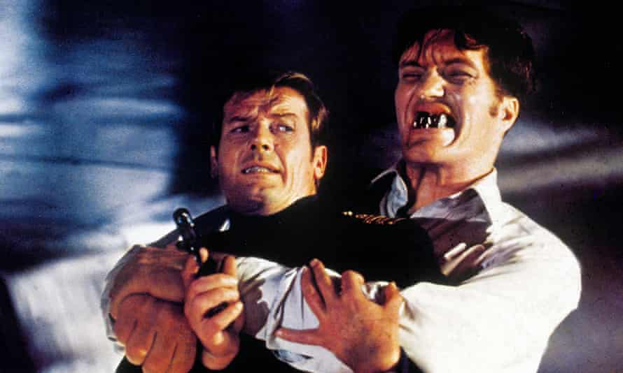 Roger Moore and Richard Kiel in The Spy Who Loved Me.