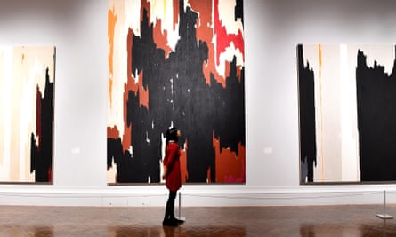 The towering paintings of Clyfford Still.