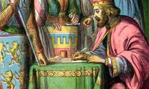 King John signs away the Tories' birthright.