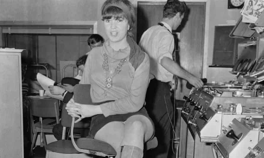 Miranda Ward, the only woman working on air at the newly launched BBC Radio 1, in September 1967.