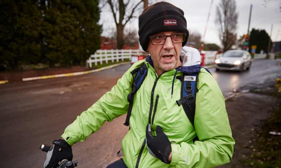 """Miner Ted Greenalgh: """"This morning I saw this daft twat on a push bike ..."""""""
