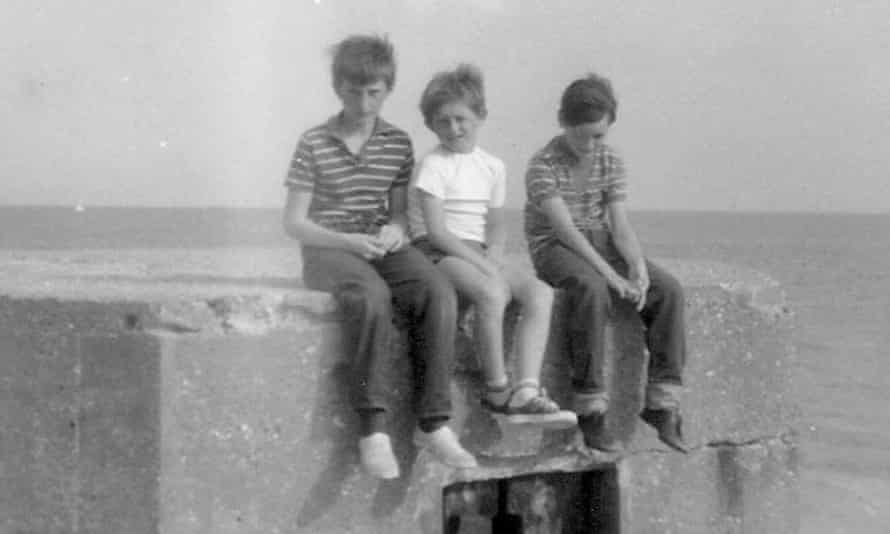 Beyond the boundaries of civilisation … Barking lad Billy Bragg, left, with his cousins in 1970.