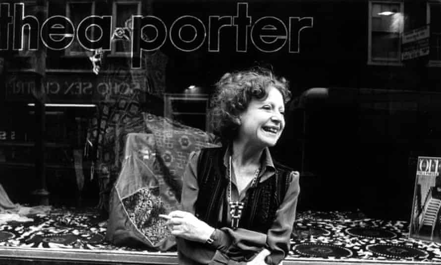 'Understood the changeability of women's beauty': Thea Porter outside one of her shops in November 1977