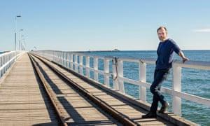 Hugo Weaving on the Busselton boardwalk.