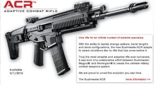 An advertisement for the Bushmaster Adaptive Combat Rifle.