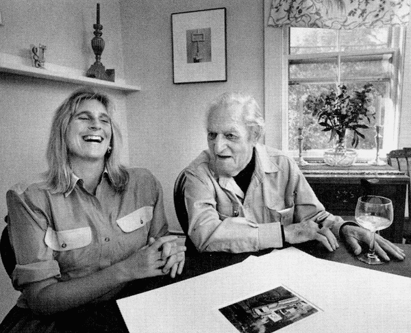 Todd Webb with Betsy Evans Hunt in Maine in 1991.