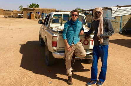 Phil Cox and Daoud Hari on the Chad-Sudan border in December 2016.