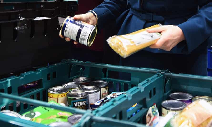 Goods at a UK food bank