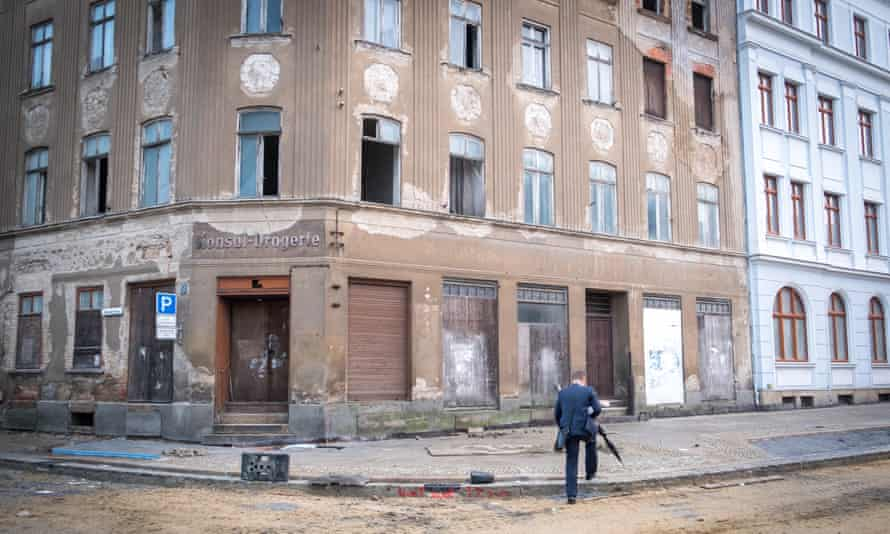 Disused buildings in Görlitz, eastern Germany. The city has over 7,000 vacant apartments.