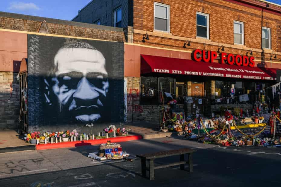 A mural of George Floyd in Minneapolis.