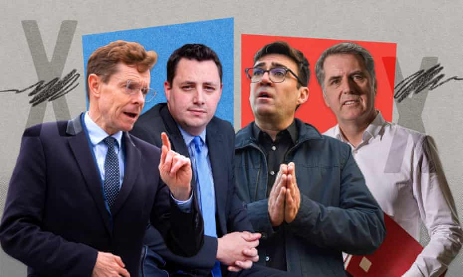 (From left:) Andy Street, Ben Houchen, Andy Burnham and Steve Rotheram.