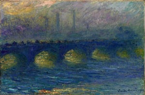Monet's Waterloo Bridge, painted from the Savoy Hotel in 1904.