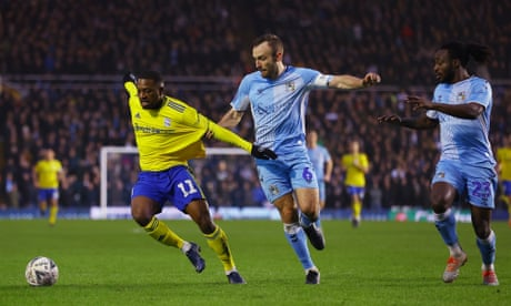 Coventry secure draw at home to landlords and away side Birmingham