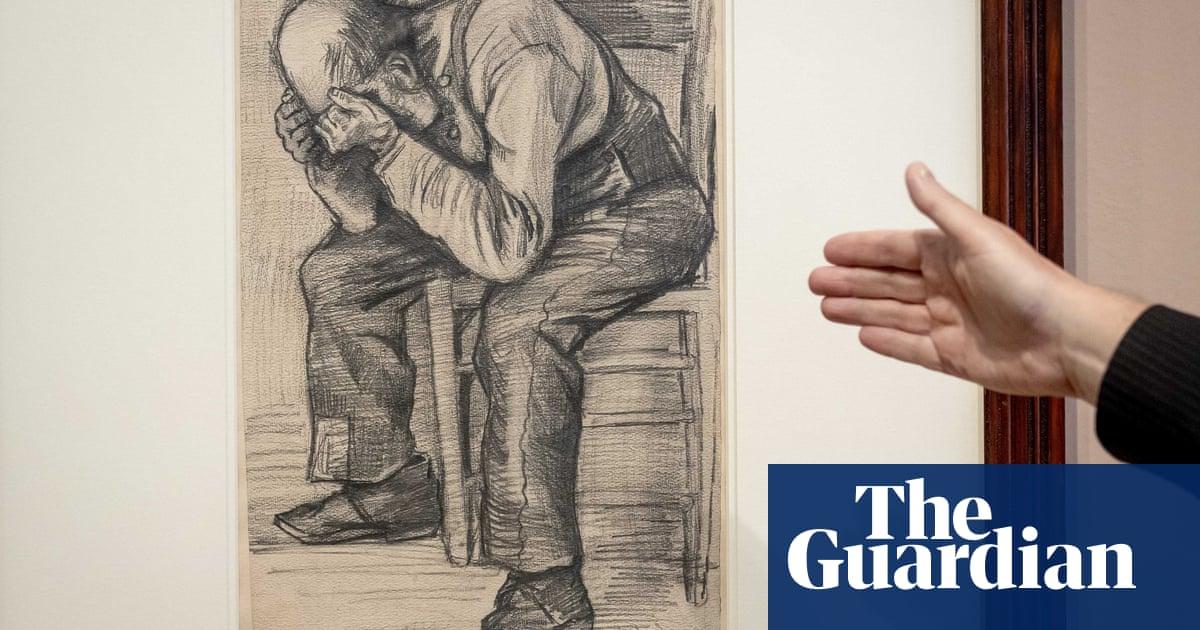 Pencil drawing of old man identified as Van Gogh work