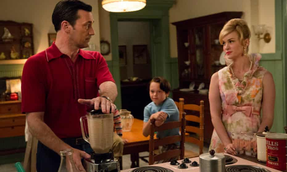 Don and Betty Draper in Mad Men.