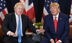 Boris Johnson and Donald Trump at the UN general assembly. Neither is noted for consistency of opinion.
