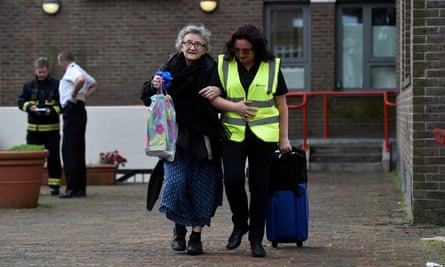 Some of the elderly residents of the Chalcots estate have refused to evacuate.