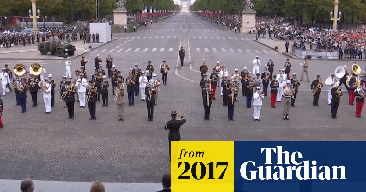 French marching band medleys Daft Punk at Bastille Day