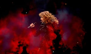 'The fact that her press strategy is impossible to call is weirdly exciting' ... Swift performing in Texas in 2018.